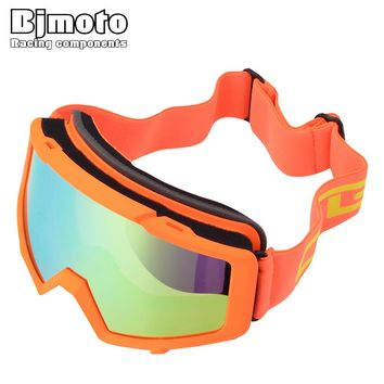 Bjmoto skiing snowboard goggles UV anti-fog ski goggles double lens skiing eye wear glasses goggles