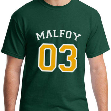 Malfoy 03 Draco Malfoy Harry potter Men Tee Forest Green