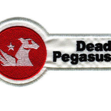 Dead Pegasus Emblem Iron On Patch