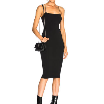 T by Alexander Wang Fitted Dress in Black | FWRD