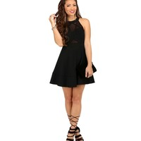 Black X-travagant Skater Dress