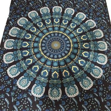 Rectangle Tapestry Beach Throw Roundie Towel Yoga Mat For women#20