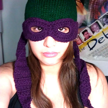 Teenage Mutant Ninja Turtles Convertible Beanie (Knit & Crochet Combo)