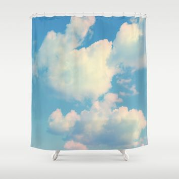 The Colour of Clouds 04 Shower Curtain by NaturalColors