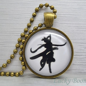 Chinese character Dance symbol necklace,fancy style Calligraphy Resin pendant necklace NC1
