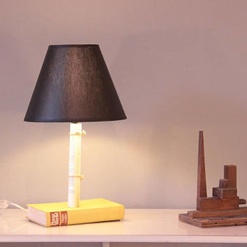 table lamp book lamp desk lamp upcycle light nightstand lamp
