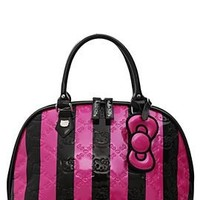 Loungefly Hello Kitty Embossed Stripes Patent Dome Bag - 10000348