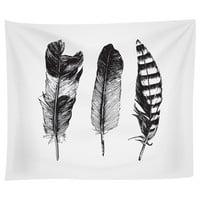 Feathered Trio Tapestry