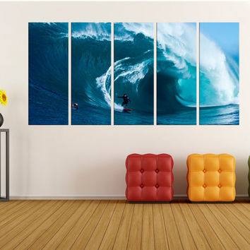 Large sports wall art, surf wall art Canvas, fine art print large canvas art, wave wall art print, surf wall decor ocean canvas art 7s92