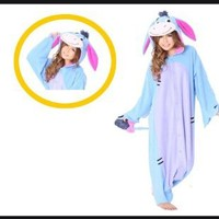 Eeyore Kigurumi - Adults Costume