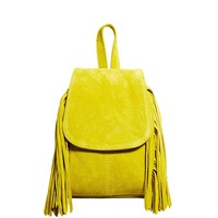 ASOS Suede Mini Backpack with Fringing