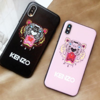 KENZO:Couple phone case print phone shell phone case for Iphone 6/6s/6p/7p/7/8/8p/X