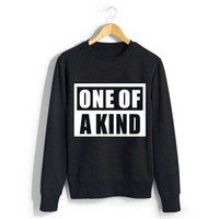 Bigbang gd g-dragon album one of a kind black white sweatshirt for autumn spring kpop vip's plus size o neck pullover hoodies