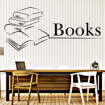 Wall Vinyl Decal Books Reading Bookstore Library Interior Decor Unique Gift z4672