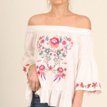 Rhythm Of The Night Top - Cream