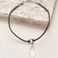 Brown Faux Crystal Choker