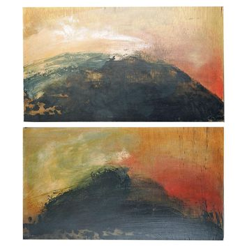 Black Hills Abstract Diptych Painting