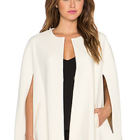 Trisha Cape Coat in Cream