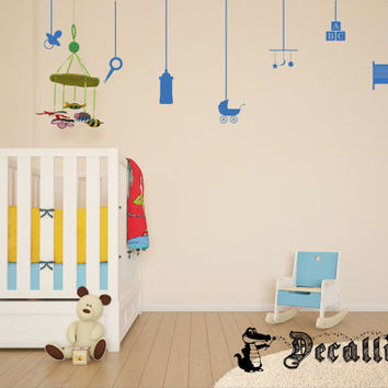 Wall Decal - Hanging Baby Things - Perfect Decoration for a Baby Nursery [020]