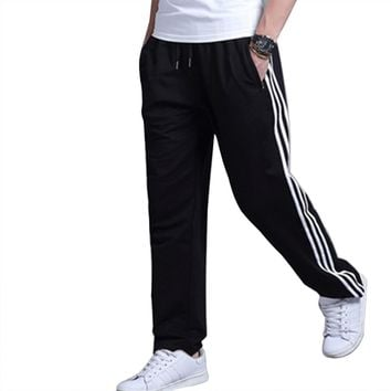 Men's Sweatpants Plus Size Active Open Bottom Pants Athletic Cotton Sport Pants Trousers