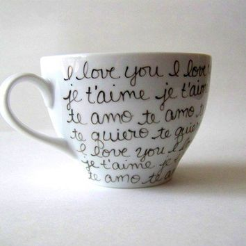 Love in Any Language Coffee Mug by retrogalusa on Etsy