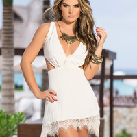 Cross-Back Lace Sun Dress