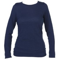 Boxercraft Navy Blue Long Sleeve T-Shirt 100% Cotton Lightweight
