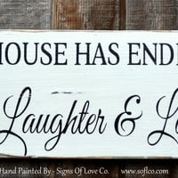 Laundry Room Wall Decor Sign Endless Love Laughter Laundry Quote Rustic Wood