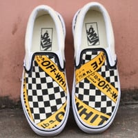 OFF-WHITE x Vans Classic men & women casual shoes