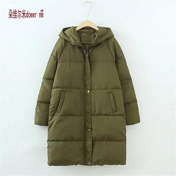 Women Winter Coat Jacket Warm Woman Parkas Female Overcoat High Quality Quilting Cotton Coat dower me 2017 New Winter Collection