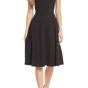 Gal Meets Glam Collection Pearly Trim Fit & Flare Dress (Nordstrom Exclusive) | Nordstrom