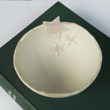 Porcelain Ceramic Handmade Star Bowl - Medium - Mothers Day Gift