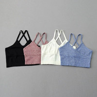 2016 summer American apparel v neck High Wais bustier crop top Short Posterior Cruciate  Knitted  Vest candy color