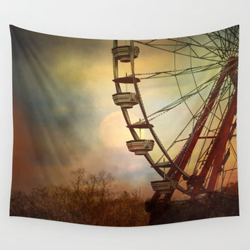 After The Thrill Is Gone Wall Tapestry by Theresa Campbell D'August Art
