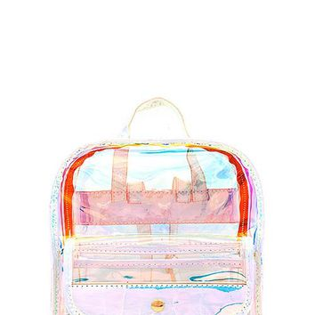 Mutli colored- metalic - clear back pack