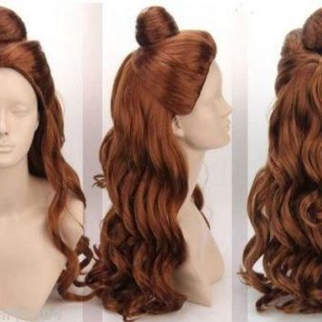 HOT sell  free Shipping  New Cosplay wi Princess Beauty and the Beast - Bell Princess Wig