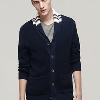 Rag & Bone - Irving Shawl Cardigan, Navy