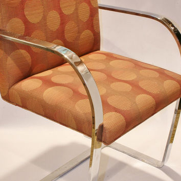 Reserved: 2 Knoll BRNO Flat Bar Arm Chairs in Fantastic Condition Mid Century Modernism MCM Eames