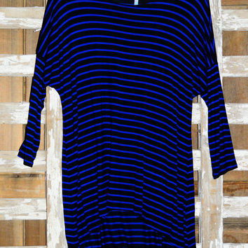 THE PERFECT PIKO IN ROYAL STRIPES