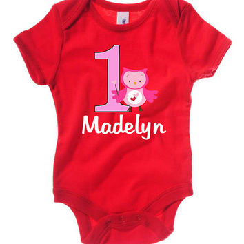 Personalized Girls Birthday First Valentine's Day Heart name Party T shirt Lots of Colors - Party Event Infant through Teen