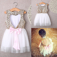Mommy & Me Open Heart Back Sparkly Dress