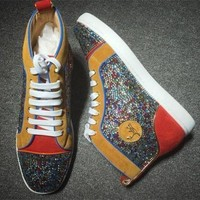 VONE7Y2 Cl Christian Louboutin Rhinestone Style #1953 Sneakers Fashion Shoes