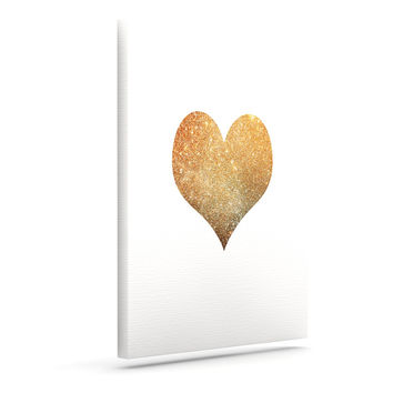 "Suzanne Carter ""Gold Heart"" Glam Canvas Art"