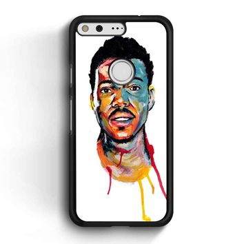 Acrylic Painting Of Chance The Rapper Google Pixel Case