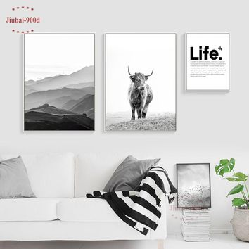900D Wall Art Canvas Painting Wall Pictures For Living Room Nordic Poster Decoration Pictures Posters And Prints NOR066