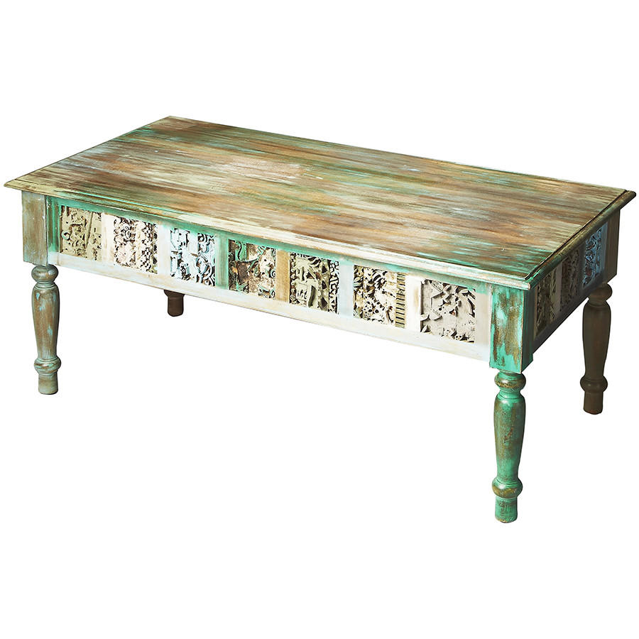 Ashley Furniture Distressed Coffee Table: Distressed Hand-Painted Coffee Table From Timberwolf Bay
