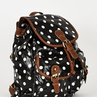 Black Polka Dot Backpack Design Bag