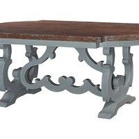 One Kings Lane - Color & Character - Jasper Dining Table, Gray/Natural