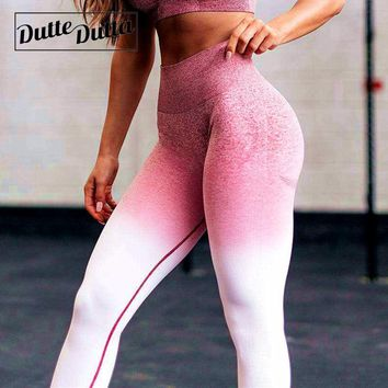 Ombre Leggins Sport Women Fitness Tights Seamless Yoga Gym Leggings High Waist Woman Sports Wear For Legging Female Sportswear