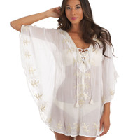 White Tunic | LUXE Designer Swimwear | 2014 Swim Coverup | Designer